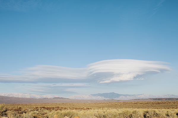 Lenticular Clouds on a Hot Springs Camping Trip near Mammoth, California // WeAreAdventure.us