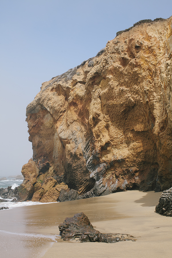 Gorgeous Rock Wall on the beach in Santa Cruz, California // WeAreAdventure.us