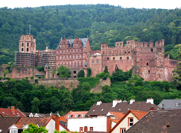 Castle on a hill in Heidelberg, Germany // WeAreAdventure.us