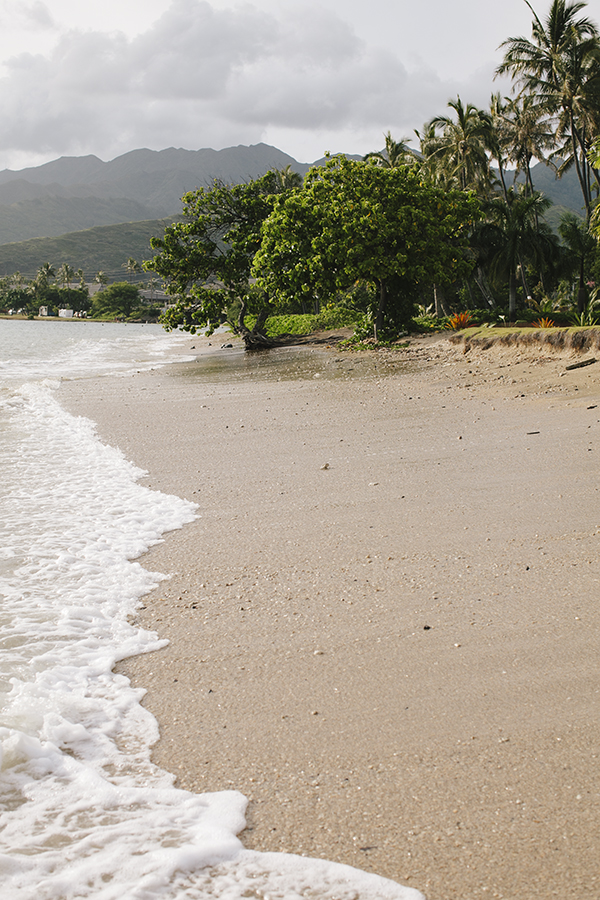 The beach in front of our house in Oahu, Hawaii // WeAreAdventure.us