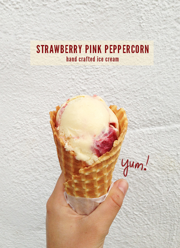 Strawberry Pink Peppercorn Ice Cream, at the Penny Ice Creamery in Santa Cruz, California // WeAreAdventure.us