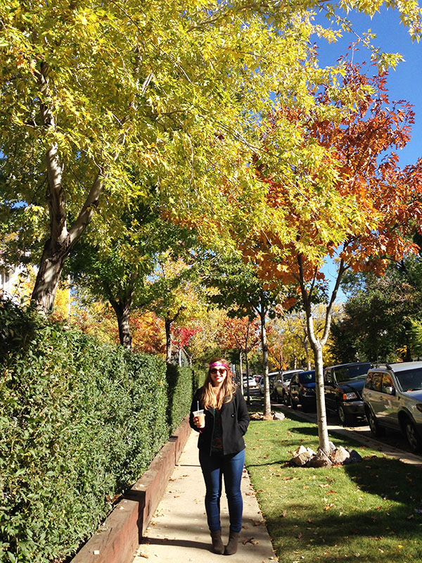 Gorgeous Fall Leaves & Simone Anne in Boulder, Colorado // WeAreAdventure.us