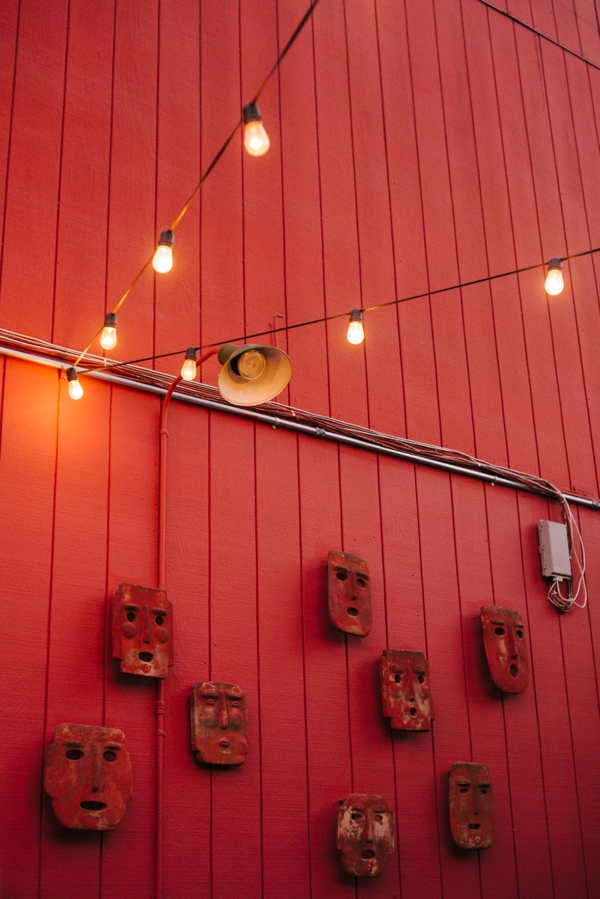 Sweet Twinkle Lights & Art on the Patio at Picante in Berkeley, California // WeAreAdventure.us