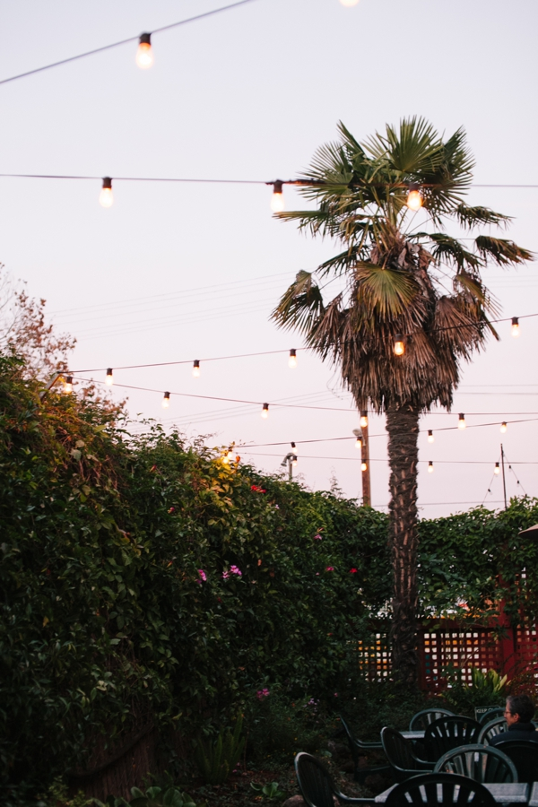 Sweet Patio with Twinkle Lights at Picante in Berkeley, California // WeAreAdventure.us