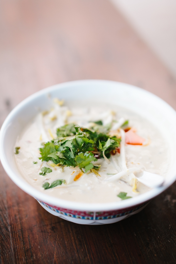 Thai Coconut Lemongrass Soup (Vegan & Vegetarian), at Ace Restaurant, Denver, Colorado // WeAreAdventure.us