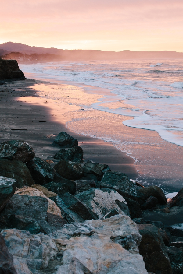 Sunrise at Surfer's Beach in Half Moon Bay, California // WeAreAdventure.us