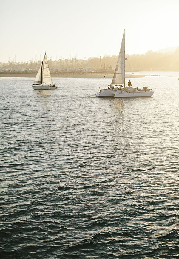 Sailing in Santa Barbara as part of a City Guide to Santa Barbara, California // WeAreAdventure.us