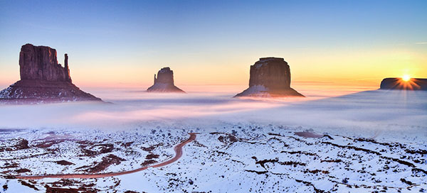 The Mittens, Monument Valley, Arizona, Photograph by Dominique Palombieri // WeAreAdventure.us