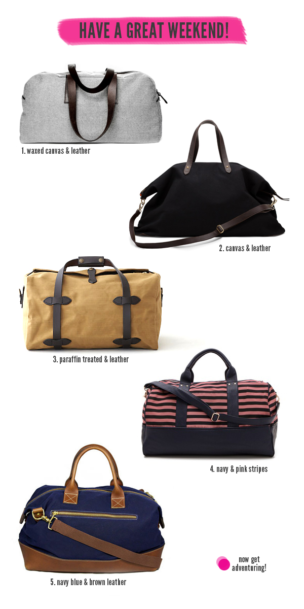 5 Fantastic Weekender Bags - We Are Adventure.us