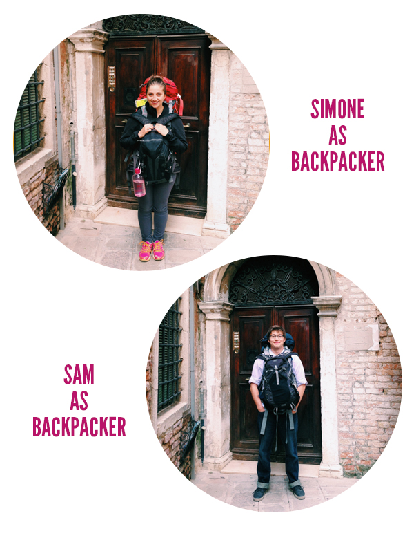 Simone and Sam as Backpackers in Venice, Italy  // WeAreAdventure.us