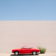 Beautiful red Karmann Ghia in Bishop, California // WeAreAdventure.us
