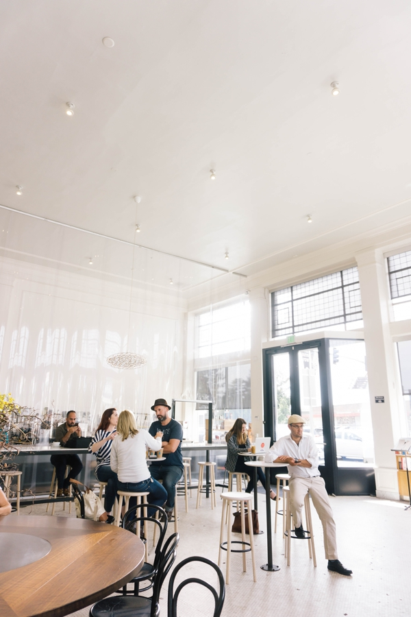 Blue Bottle Coffee Shop and Café at the Morse Building in Oakland, California // WeAreAdventure.us