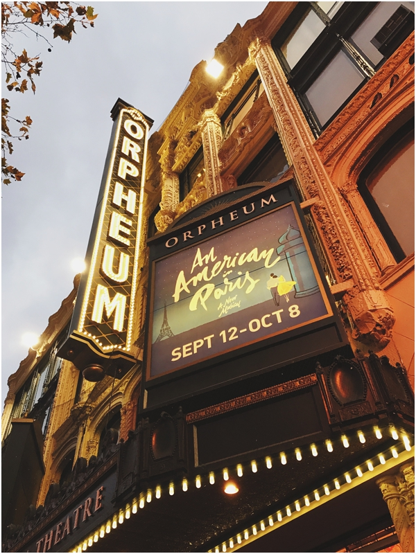 An American in Paris at the Orpheum, San Francisco // WeAreAdventure.us